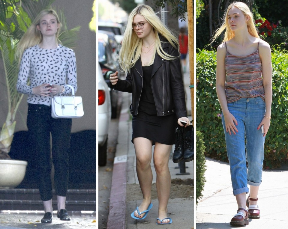 Elle Fanning leaves the Chateau Marmont after a Lunch Meeting