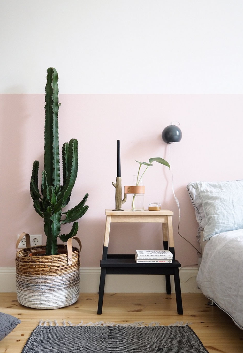Half Painted Wall, parede bicolor, Half Painted Wall decor, ideias Half Painted Wall, Half Painted Wall Rosa, Half Painted Wall Verde