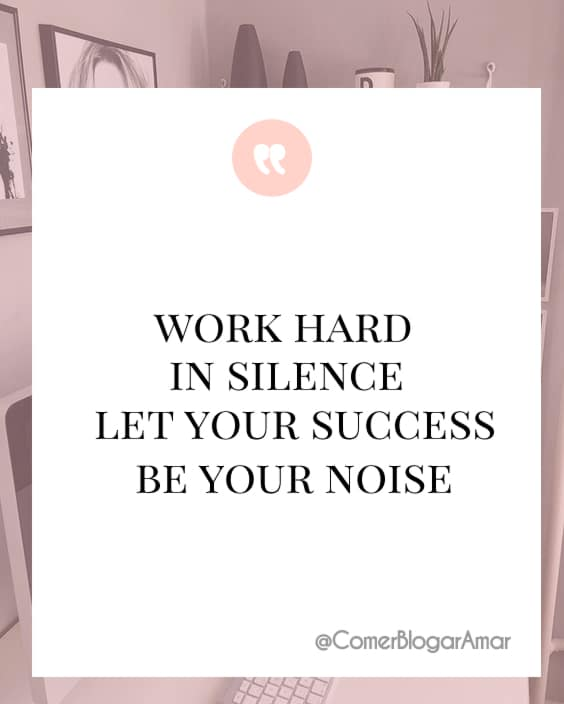 Work hard in silence let your success be your noise,motivação da semana, frases motivacionais, frases pra levantar o astral, frases de sucesso, frases legais, frases para dar animo, frases